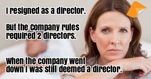 single director company can't resign